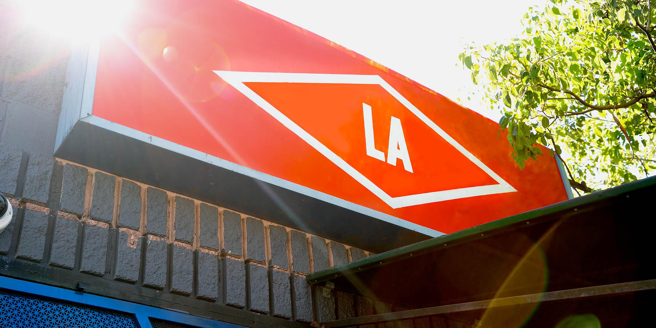 LA Sign at Squirl Cafe